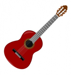 Classical guitar vector