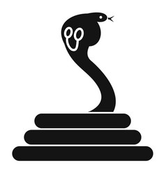 Cobra icon simple style vector