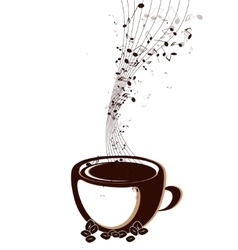 Coffee cup with notes vector
