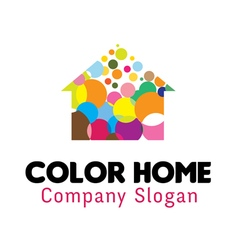 Color Home Design vector image vector image