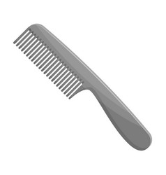 Comb for hairbarbershop single icon in monochrome vector