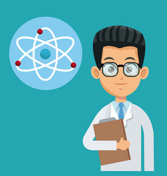 Doctor medical care molecule atom vector