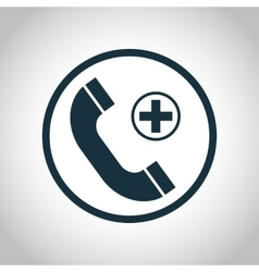 Emergency call flat icon vector image