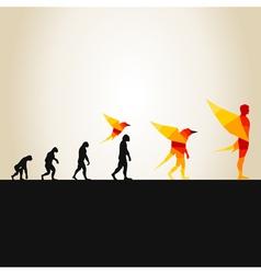 Evolution in a bird2 vector image vector image