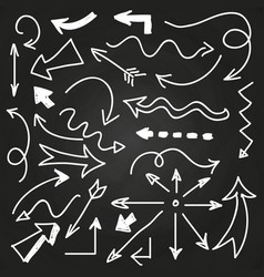hand drawn arrows on chalkboard - doodle arrows vector image vector image