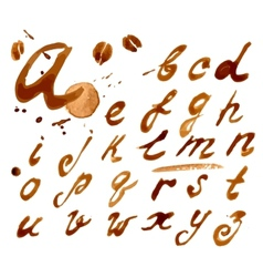 Handwritten font with vector image vector image