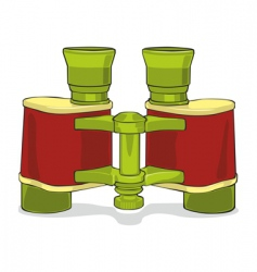 isolated binocular vector image