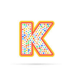 letter k with dots logo design vector image vector image