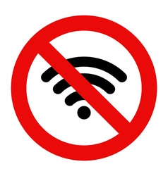 No Wifi sign vector image vector image