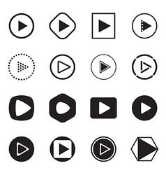 Play button icons vector
