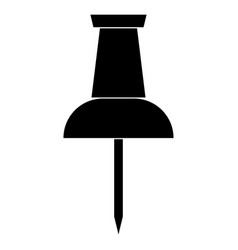 Push pin the black color icon vector