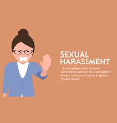 Sexual harassment poster with girl vector