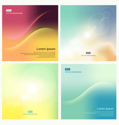 Smooth and blurry backgrounds set pastel color vector