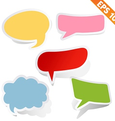 Speech bubbles - - EPS10 vector image vector image