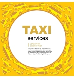 taxi service background vector image vector image