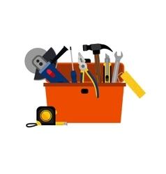 Toolbox for diy house repair vector