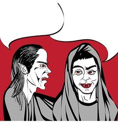 Vampires chat vector
