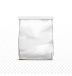 White vertical sealed transparent plastic bag vector