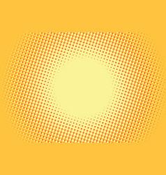 Yellow pop art retro comic background vector