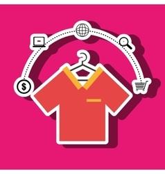 Clothes wear buy online vector