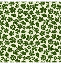 Nature seamless pattern with green leaves vector