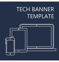 Web template of adaptive site or article form vector