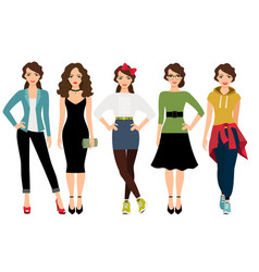 Women fashion styles vector