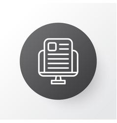 News website icon symbol premium quality isolated vector