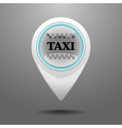 Glossy taxi icon vector