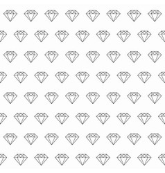 Line Art Diamond Seamless Pattern vector image
