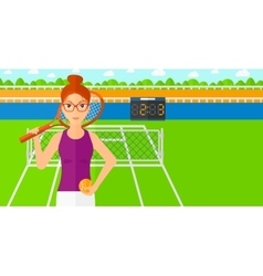 Big tennis player vector