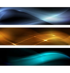 Abstract wave banner vector image