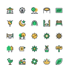 Nature park icons 1 vector