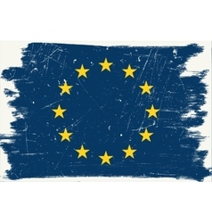 Grunge european flag vector
