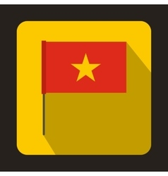 Flag of vietnam icon flat style vector