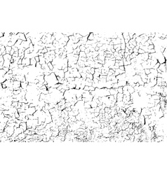 Cracked concrete wall vector