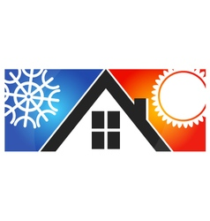 Air conditioning for home vector