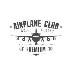 Airplane club premium emblem design vector