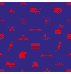 american independence day celebration icons vector image vector image