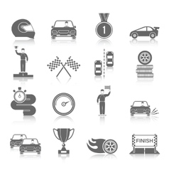 Auto sport icons set vector