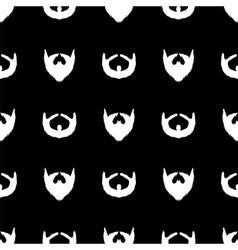 Beard silhouette seamless pattern vector