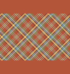 Beige brown diagonal plaid pixeled seamless vector