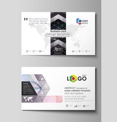 Business card templates easy editable vector