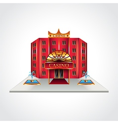 Casino building isolated vector image vector image
