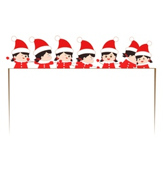 Christmas kids banner vector