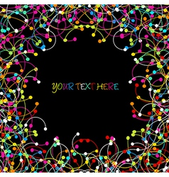 Colored network frame vector image
