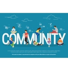 Community concept vector image vector image