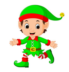 cute elf cartoon vector image