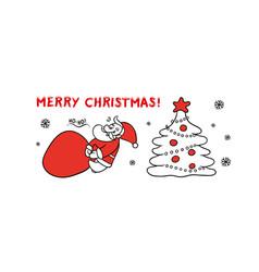 cute sketch santa claus drags vector image vector image