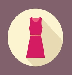flat design with shadow Icon Women red dress vector image vector image